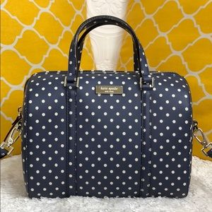🌸OFFERS?🌸Kate Spade All Leather PolkaDot Satchel